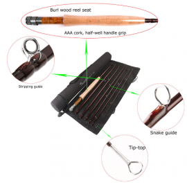 Professional Nano Traveller 9ft 6wt 7pcs Medium Fast Fly Rod
